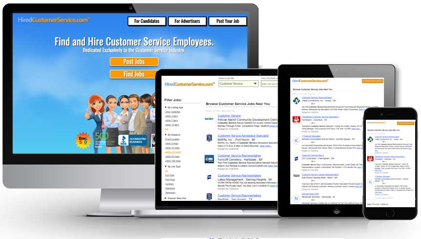 HiredCustomerService responsive views